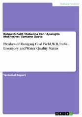 Pitlakes of Raniganj Coal Field, W.B, India. Inventory and Water Quality Status